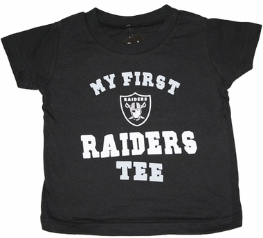 "Oakland Raiders Toddler NFL ""My First Raiders"" Tee T-Shirt"