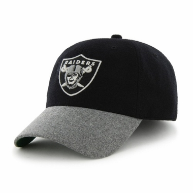 Oakland Raiders Two Tone Brooksby Melton Wool Adjustable Hat