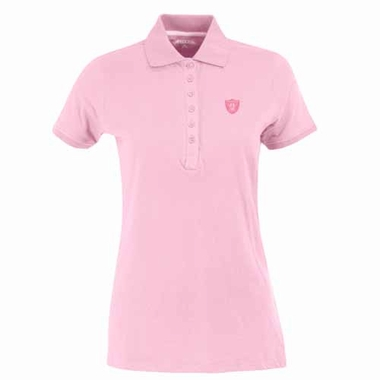 Oakland Raiders Womens Spark Polo (Color: Pink)