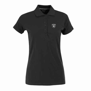 Oakland Raiders Womens Spark Polo (Color: Black)