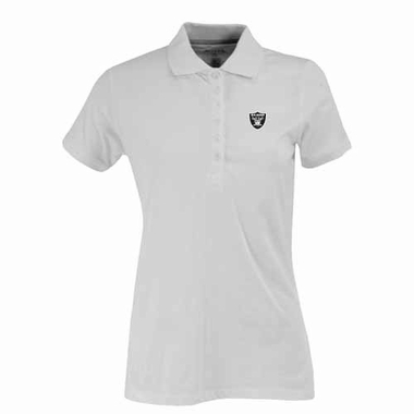 Oakland Raiders Womens Spark Polo (Color: White)