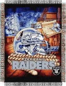 Oakland Raiders Woven Tapestry Throw Blanket
