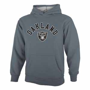 Oakland Raiders YOUTH Vintage Garment Washed Hoody - X-Large