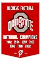 "Ohio State 24""x36"" Dynasty Wool Banner"