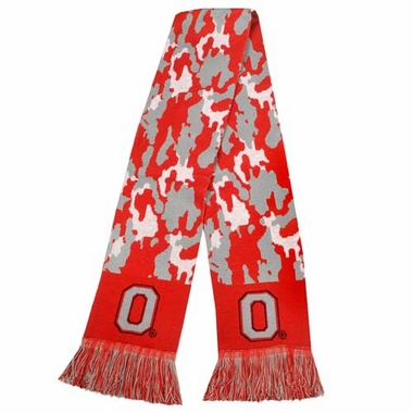 Ohio State Buckeyes NCAA 2013 Camouflage Knit Scarf