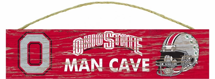 Ohio State Man Cave Furniture : Ohio state distressed man cave sign small