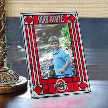 Ohio State Portrait Art Glass Picture Frame