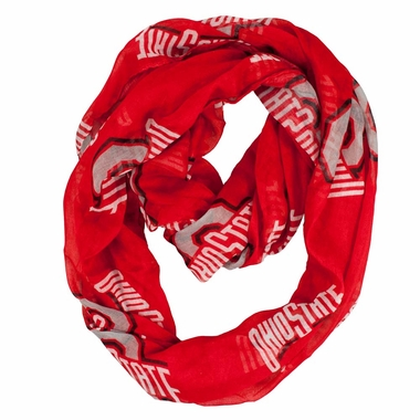 Ohio State Sheer Infinity Scarf