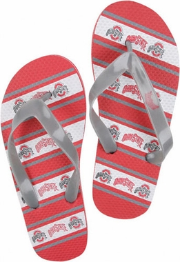 Ohio State Unisex Striped Flip Flops