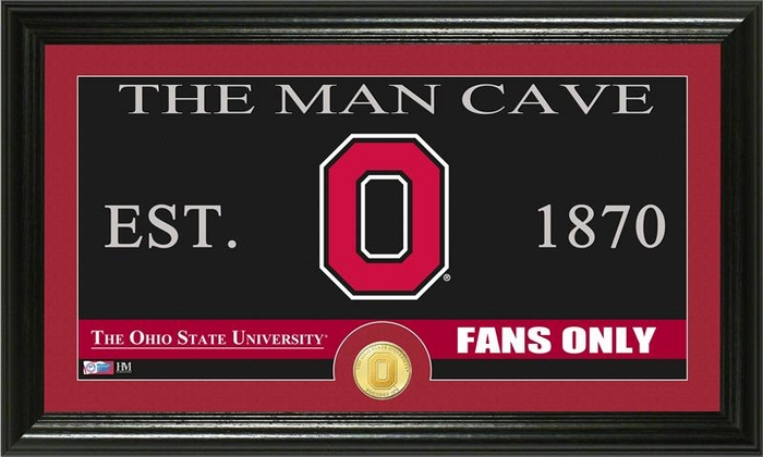 Ohio State Man Cave Signs : Ohio state university quot man cave bronze coin panoramic