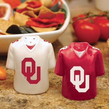 Oklahoma Ceramic Jersey Salt and Pepper Shakers
