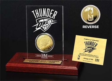 Oklahoma City Thunder Oklahoma City Thunder 24KT Gold Coin Etched Acrylic