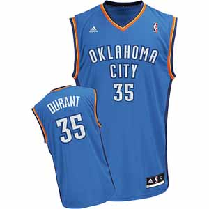 Oklahoma City Thunder Kevin Durant Replica YOUTH Jersey - Large