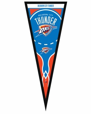 "Oklahoma City Thunder Pennant Frame -13"" x 33"" (No Glass)"