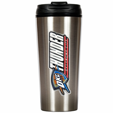 Oklahoma City Thunder Slim Stainless Steel Travel Tumbler (Wordmark)