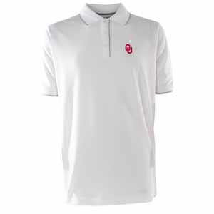 Oklahoma Mens Elite Polo Shirt (Color: White) - Medium