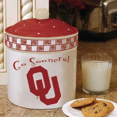 Oklahoma Gameday Ceramic Cookie Jar