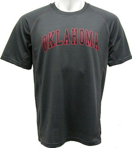 Oklahoma Inferno Charcoal Performance T-Shirt - Large