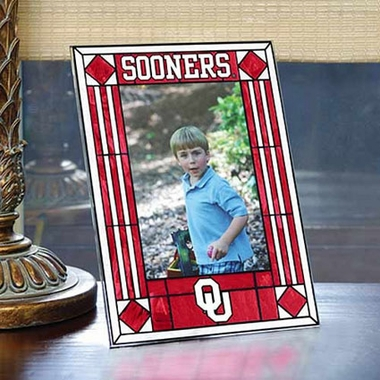 Oklahoma Portrait Art Glass Picture Frame