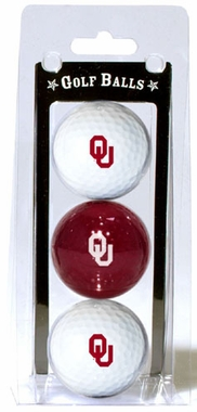 Oklahoma Set of 3 Multicolor Golf Balls