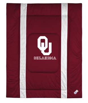 Oklahoma SIDELINES Jersey Material Comforter