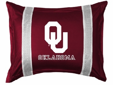 Oklahoma SIDELINES Jersey Material Pillow Sham