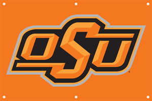 Oklahoma State 2 x 3 Horizontal Applique Fan Banner