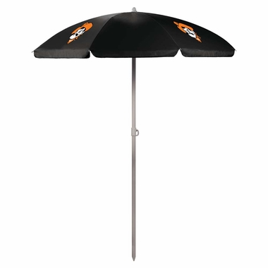 Oklahoma State Beach Umbrella (Black)