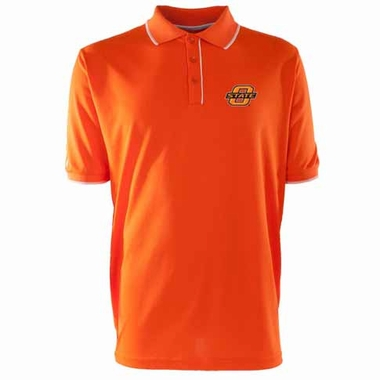Oklahoma State Mens Elite Polo Shirt (Color: Orange)