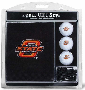 Oklahoma State Embroidered Towel Golf Gift Set