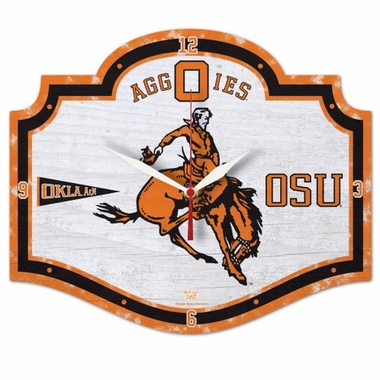 Oklahoma State High Definition Wall Clock