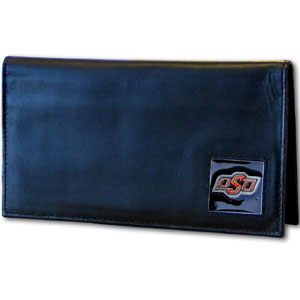 Oklahoma State Leather Checkbook Cover (F)
