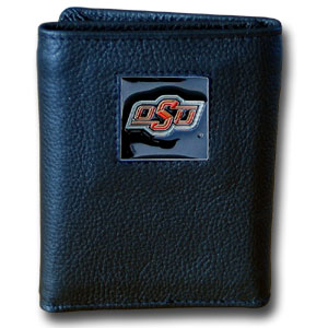 Oklahoma State Leather Trifold Wallet (F)