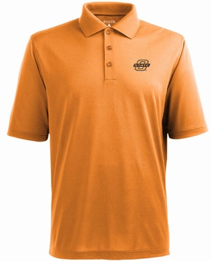 Oklahoma State Mens Pique Xtra Lite Polo Shirt (Color: Orange)