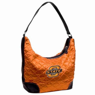 Oklahoma State Quilted Hobo Purse
