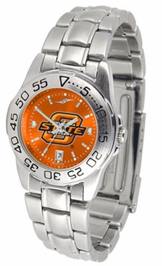 Oklahoma State Sport Anonized Women's Steel Band Watch