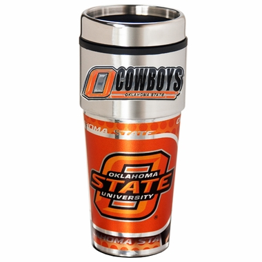 Oklahoma State Travel Tumbler with Hi-Def Graphics