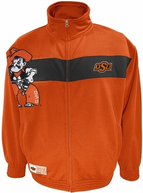 Oklahoma State Victory March Full Zip Colorblocked Track Jacket