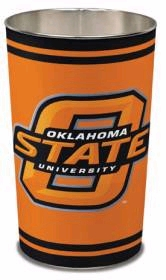 "Oklahoma State Cowboys 15"" Waste Basket"