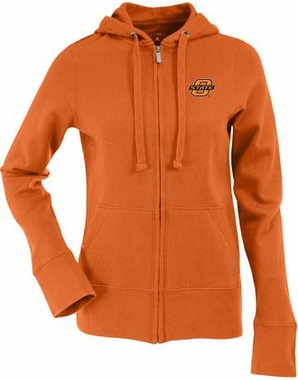 Oklahoma State Womens Zip Front Hoody Sweatshirt (Color: Orange)