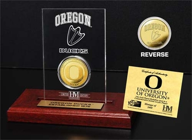 Oregon Ducks University of Oregon 24KT Gold Coin Etched Acrylic
