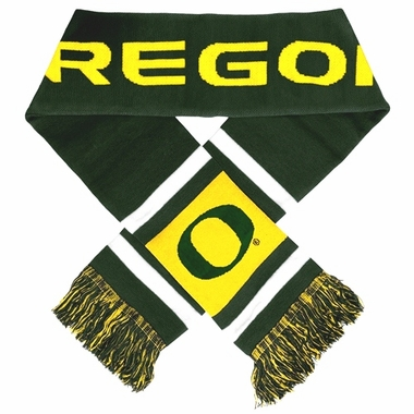 Oregon Ducks 2012 Team Stripe Knit Scarf
