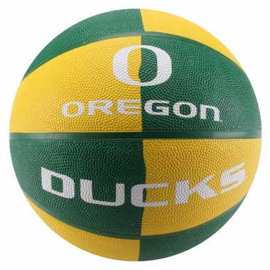 Oregon Ducks NCAA Baden Rubber Official Size Split Panel Basketball