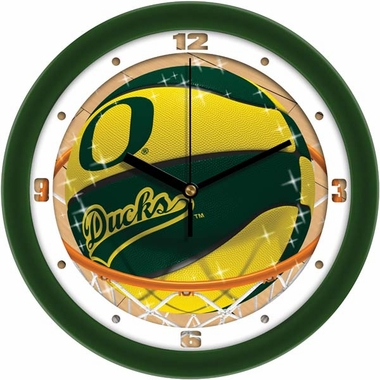 Oregon Slam Dunk Wall Clock