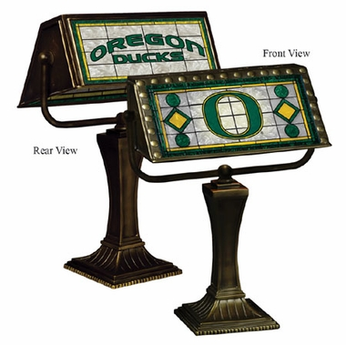 Oregon Stained Glass Bankers Lamp