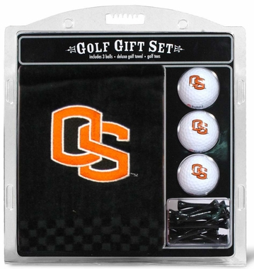 Oregon State Embroidered Towel Golf Gift Set