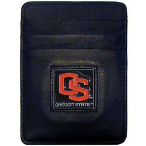 Oregon State Leather Money Clip (F)