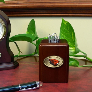 Oregon State Paper Clip Holder