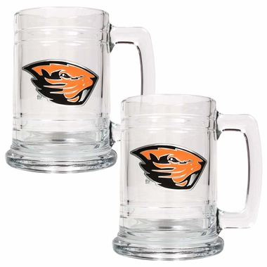 Oregon State Set of 2 15 oz. Tankards