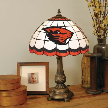 Oregon State Stained Glass Table Lamp